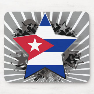 Cuba Star Mouse Pad