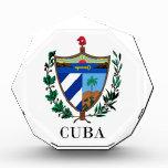 CUBA - symbol/coat of arms/flag/colors/emblem Acrylic Award