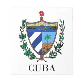 CUBA - symbol coat of arms flag colors emblem Memo Notepad