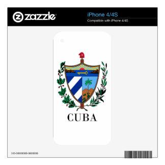 CUBA - symbol/coat of arms/flag/colors/emblem iPhone 4 Skins