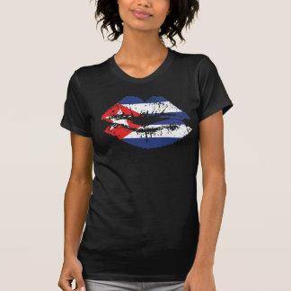 Cuba T-shirt design for women. Cuban Lips.
