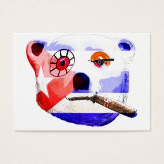 Cuba Teddy Bear with Cigar, with Cuban Flag Business Card