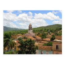 Cuba Town View Postcard