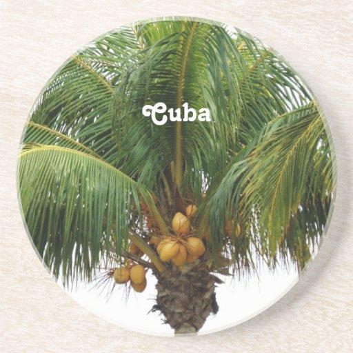 Cuba tropical posavasos personalizados
