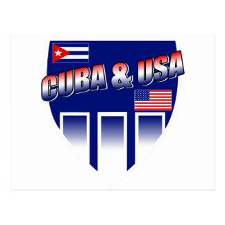 Cuba & USA Postcard
