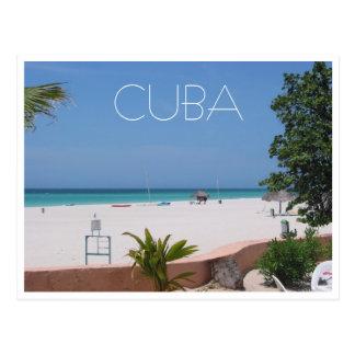 cuba varadero beach postcard
