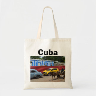 Cuba Vintage Cars Horse and Buggy Tote Bag