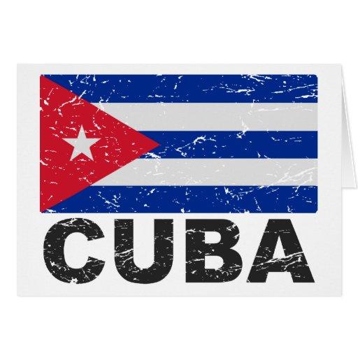 Cuba Vintage Flag Cards