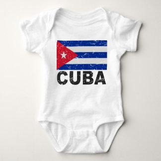 Cuba Vintage Flag Infant Creeper