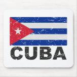 Cuba Vintage Flag Mouse Pads