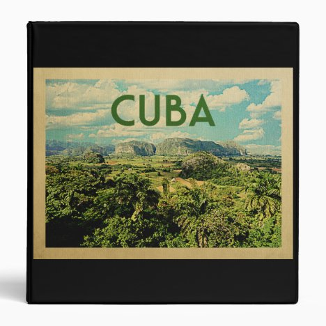 Cuba Vintage Travel 3 Ring Binder