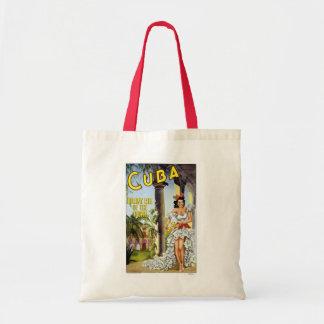 Cuba Vintage Travel Budget Tote Bag