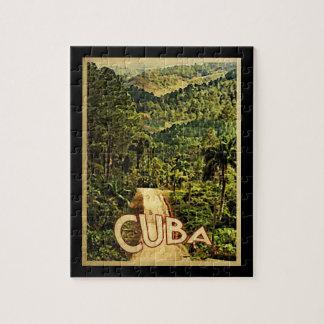 Cuba Vintage Travel Jigsaw Puzzle