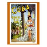 Cuba Vintage Travel Postcard