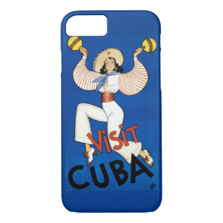 Cuba Vintage Travel Poster Restored iPhone 8/7 Case