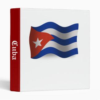 Cuba Waving Flag Binder