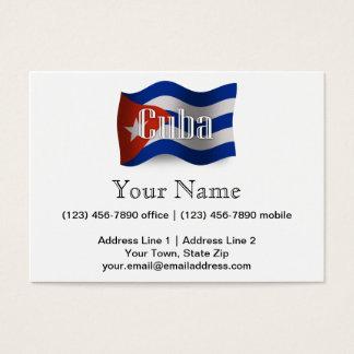 Cuba Waving Flag Business Card