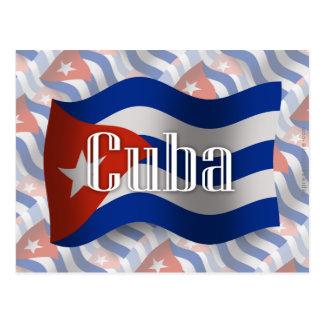 Cuba Waving Flag Postcard