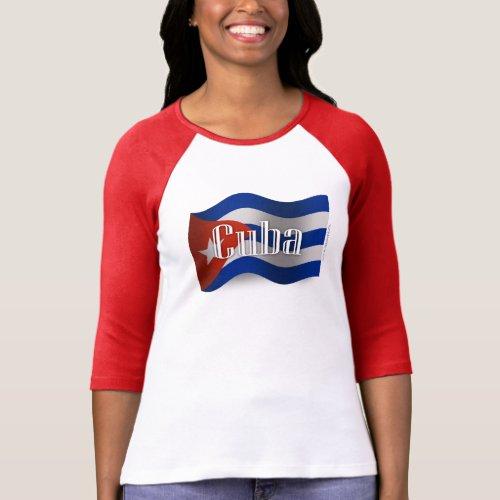 Cuba Waving Flag T_Shirt