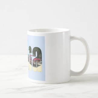 Cuba with different scenes in the letters coffee mugs