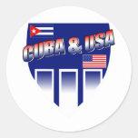Cuba y los E.E.U.U. Etiqueta Redonda