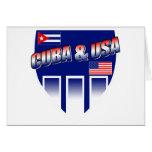 Cuba y los E.E.U.U. Tarjetón