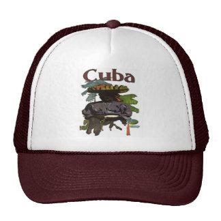 Cuba y mujer criolla en la camisa gorras
