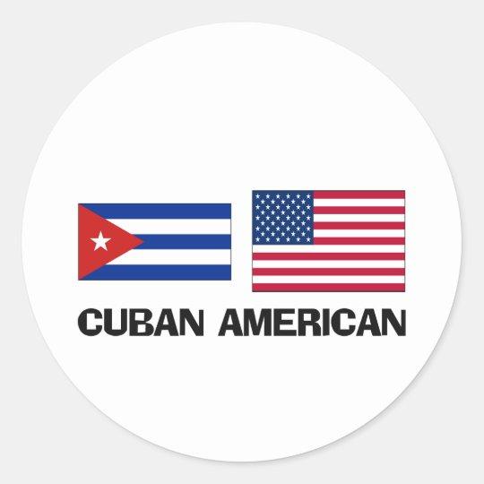Cuban American Classic Round Sticker