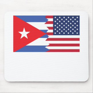 Cuban American Flag Mouse Pad