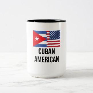 Cuban American Flag Two-Tone Coffee Mug