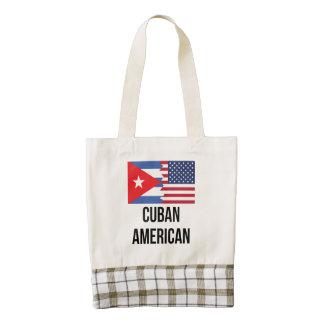 Cuban American Flag Zazzle HEART Tote Bag