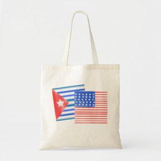 Cuban American Flags Tote Bag