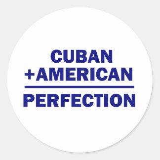 Cuban American Heritage Classic Round Sticker