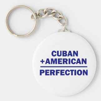 Cuban American Heritage Keychain