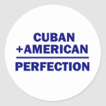 Cuban American Heritage Round Stickers