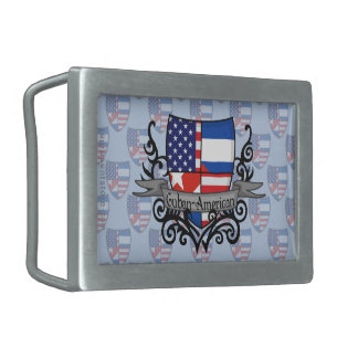 Cuban-American Shield Flag Belt Buckle