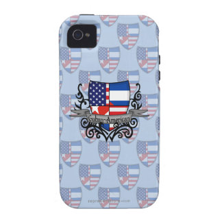 Cuban-American Shield Flag Vibe iPhone 4 Cases