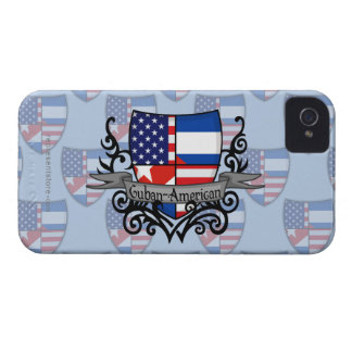 Cuban-American Shield Flag Case-Mate iPhone 4 Cases