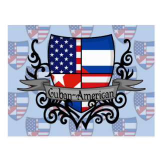 Cuban-American Shield Flag Postcard