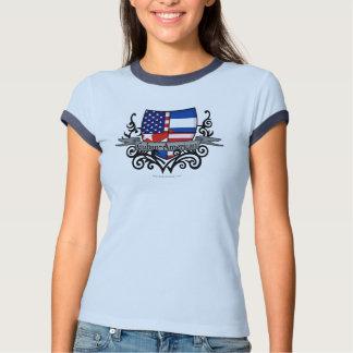 Cuban-American Shield Flag T-shirt