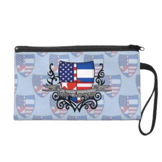 Cuban-American Shield Flag Wristlet Purse