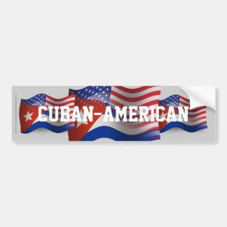 Cuban-American Waving Flag Bumper Sticker