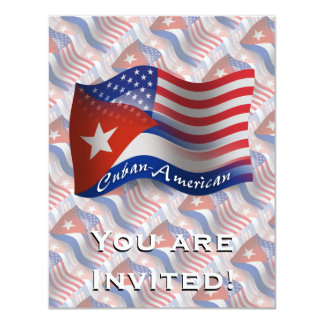 Cuban-American Waving Flag Card