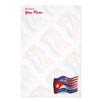 Cuban-American Waving Flag Stationery