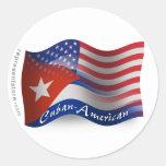 Cuban-American Waving Flag Sticker
