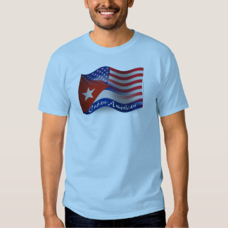 Cuban-American Waving Flag T Shirt