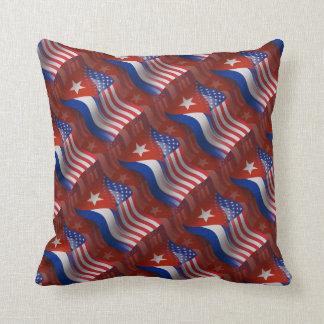 Cuban-American Waving Flag Throw Pillow