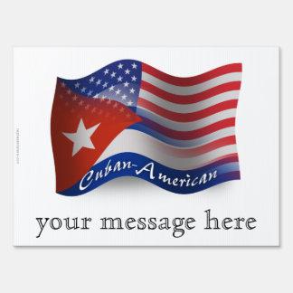 Cuban-American Waving Flag Signs