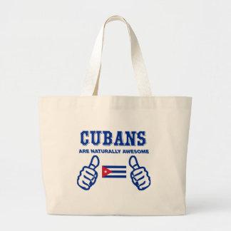 Cuban are naturally awesome jumbo tote bag