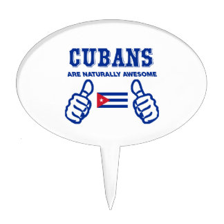 Cuban are naturally awesome cake topper